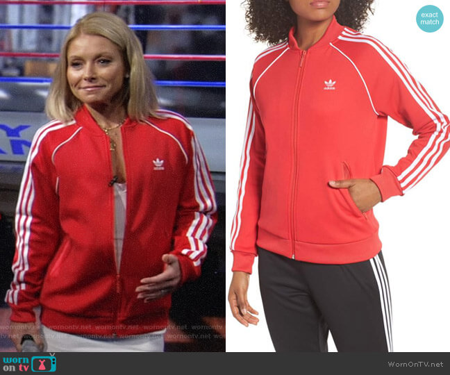 SST Track Jacket by Adidas worn by Kelly Ripa on Live with Kelly & Ryan
