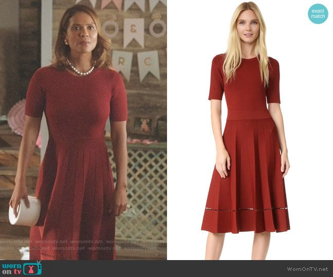 Tracy Dress by ALC worn by Lesley-Ann Brandt on Lucifer
