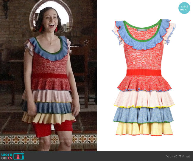 Alexander McQueen Tiered Dress worn by Carol Pilbasian (Kristen Schaal) on Last Man On Earth