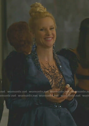 Alexis's blue embellished jacket on Dynasty