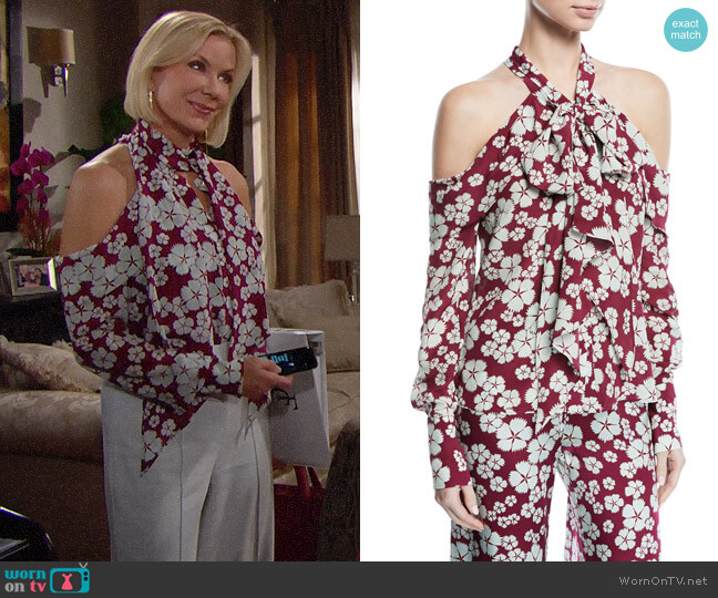 Alexis Paloma Blouse worn by Brooke Logan (Katherine Kelly Lang) on The Bold & the Beautiful