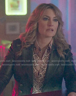 Alice's leather blazer on Riverdale
