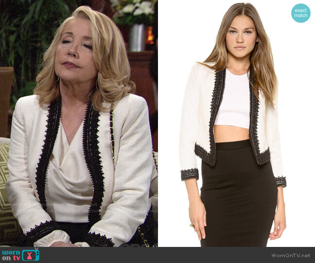 Alice + Olivia Amaya Blazer worn by Melody Thomas-Scott on The Young & the Restless