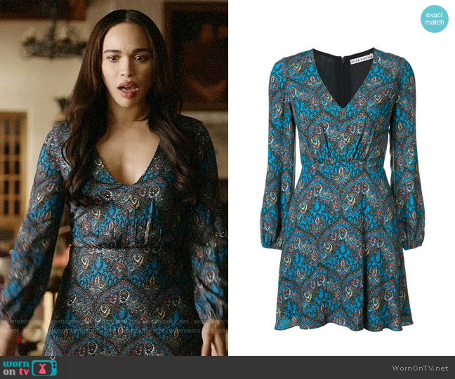 Alice + Olivia Gothic Print Dress worn by Erica Dundee (Cleopatra Coleman) on Last Man On Earth