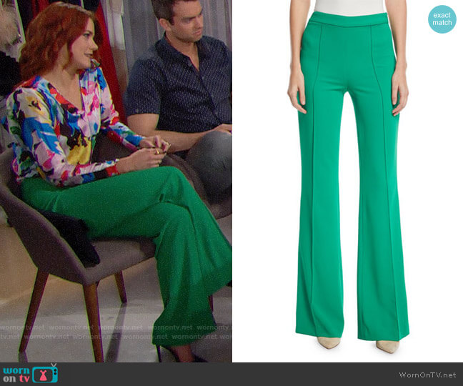 Alice + Olivia Jalisa Pants worn by Sally Spectra (Courtney Hope) on The Bold & the Beautiful
