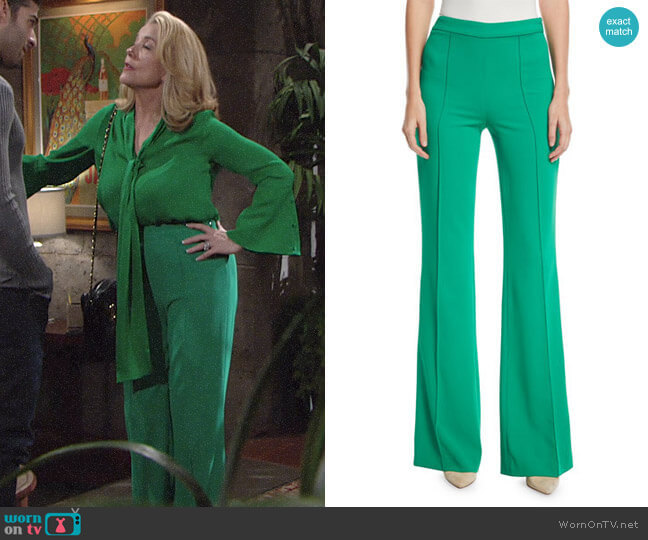 Alice + Olivia Jalisa Pants worn by Melody Thomas-Scott on The Young & the Restless