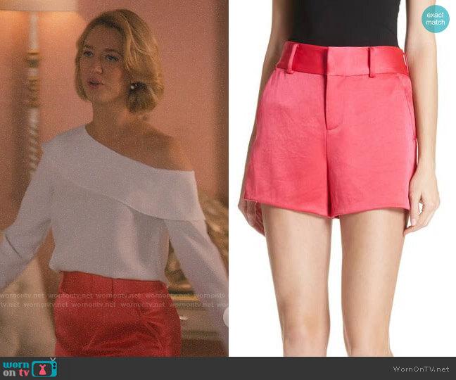 Alice + Olivia Satin Shorts worn by Petra Solano (Yael Grobglas) on Jane the Virgin