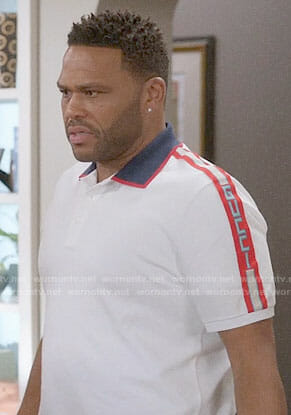 Andre's white Gucci polo shirt on Black-ish