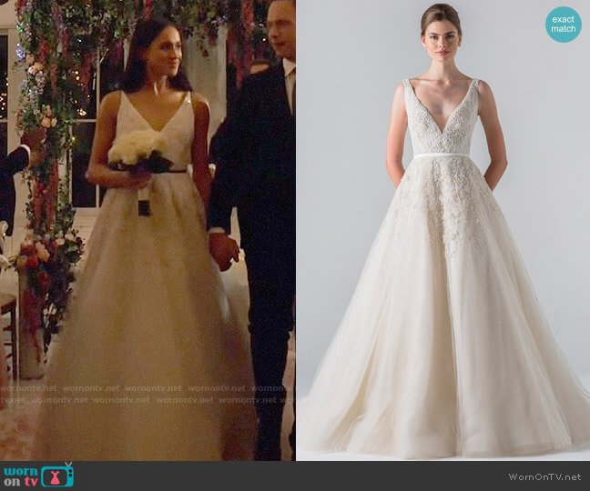 Anne Barge Versailles Gown worn by Rachel Zane (Meghan Markle) on Suits
