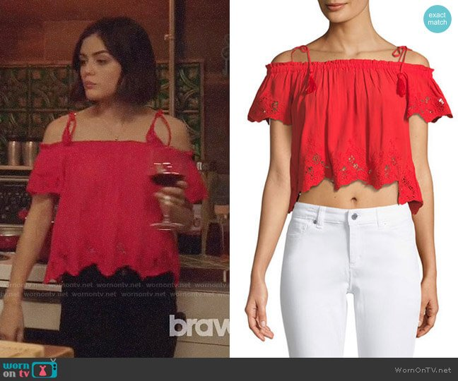 ASTR Nadia Top worn by Stella Abbott (Lucy Hale) on Life Sentence