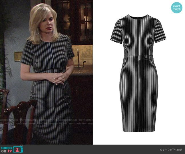 Banana Republic Side-Button Bi-Stretch Sheath Dress worn by Ashley Abbott (Eileen Davidson) on The Young & the Restless