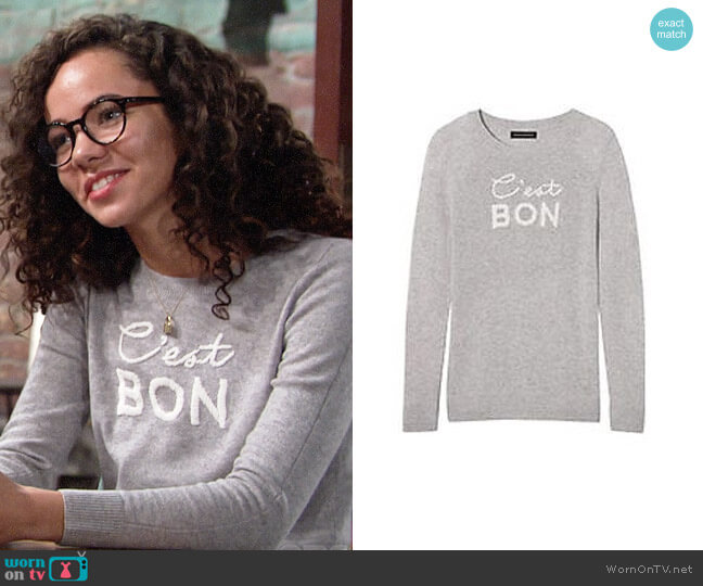 Banana Republic C'est Bon Sweater worn by Lexie Stevenson on The Young & the Restless