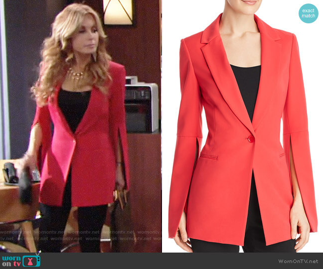 Bcbgmaxazria Gia Slit-Sleeve Blazer worn by Lauren Fenmore (Tracey Bregman) on The Young & the Restless