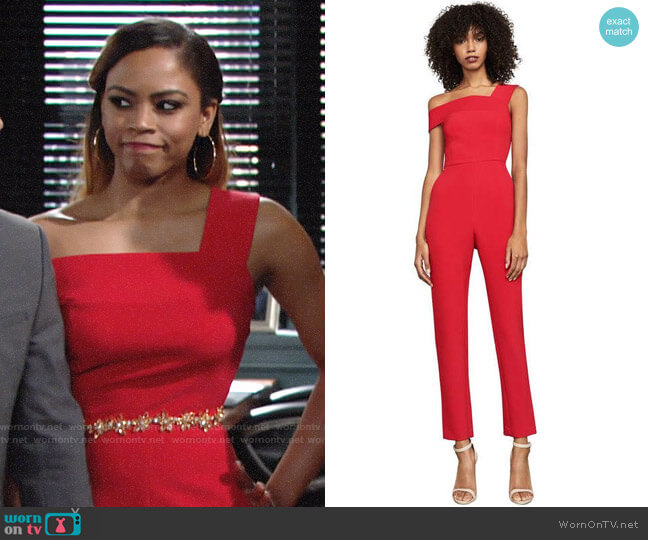Bcbgmaxazria Haida Jumpsuit worn by Simone on The Young and the Restless