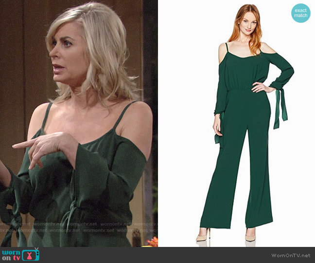 Bcbgmaxazria Jordane Jumpsuit worn by Eileen Davidson on The Young & the Restless