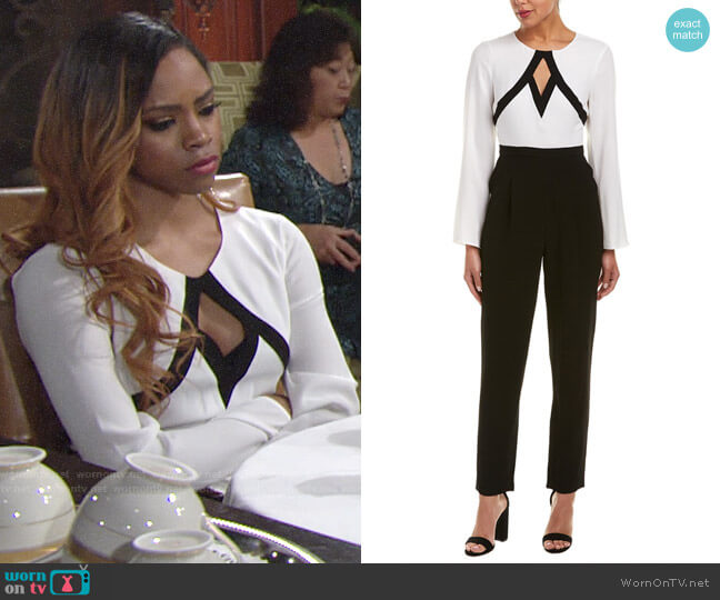 Bcbgmaxazria Keyhole Jumpsuit worn by Simone on The Young and the Restless