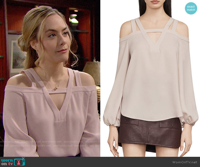 Bcbgmaxazria Tina Blouse worn by Hope Logan (Annika Noelle) on The Bold & the Beautiful
