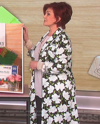 Sharon's floral print coat on The Talk