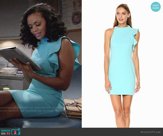 Black Halo Pabla Dress worn by Mishael Morgan on The Young & the Restless