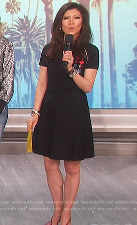 Julie's lipstick embellished dress on The Talk