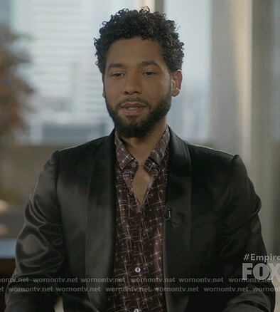 Jamal's brown star print shirt on Empire