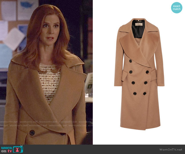 Burberry Crewdale Coat worn by Donna Paulsen (Sarah Rafferty) on Suits