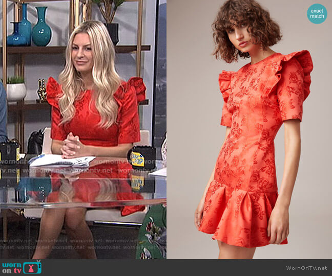Levity Mini Dress by C/Meo Collective worn by Morgan Stewart on E! News