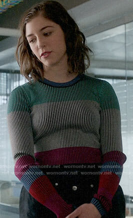 Cable's striped colorblock sweater on Bull