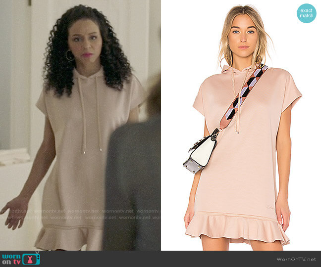 Carven Hoodie Dress with Ruffles worn by Shaun (Carra Patterson) on The Arrangement