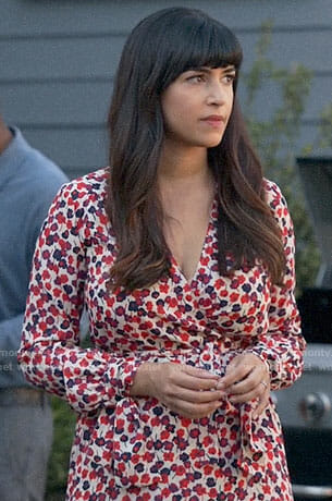 Cece's floral wrap maxi dress on New Girl