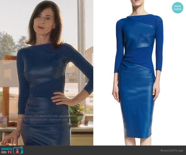 Chiara Boni La Petite Robe Malila Dress worn by Nina Devon (Perrey Reeves) on Famous in Love