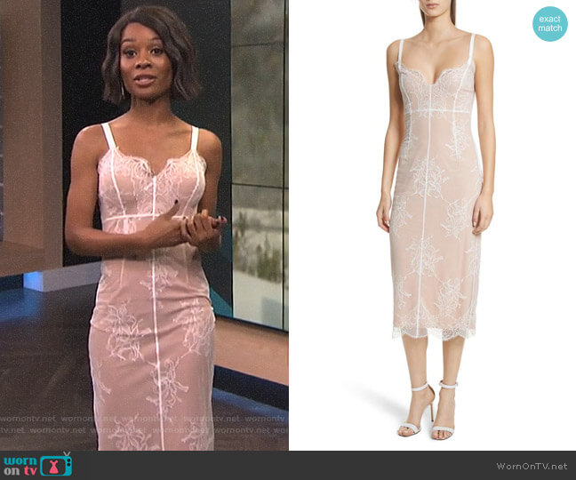 Tate Lace Dress by Cinq a Sept worn by Zuri Hall on E! News