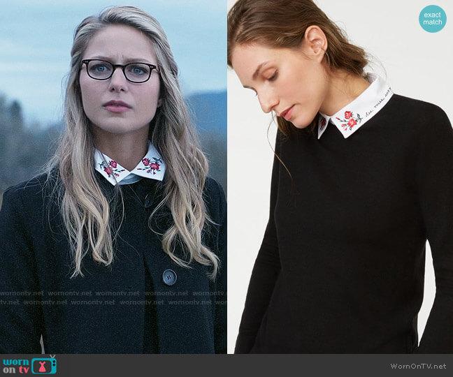 Club Monaco Rufalina Sweater worn by Kara Danvers (Melissa Benoist) on Supergirl