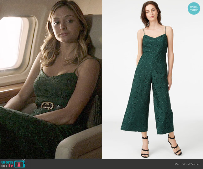 Club Monaco Samsarah Jumpsuit worn by Christine Evangelista on The Arrangement