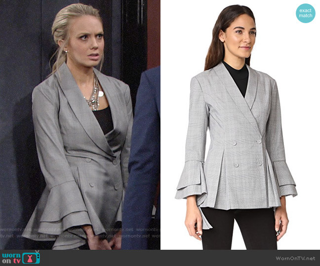 C/Meo Collective We Woke Up Blazer worn by Abby Newman (Melissa Ordway) on The Young & the Restless