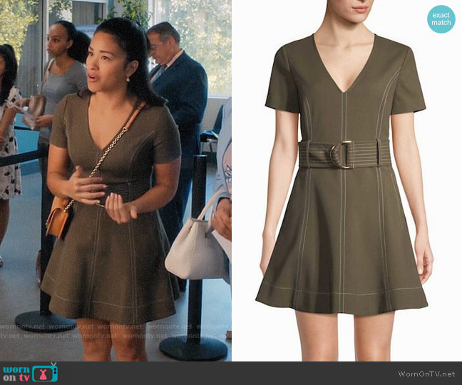 Diane von Furstenberg Belted Fit & Flare Dress worn by Gina Rodriguez on Jane the Virgin