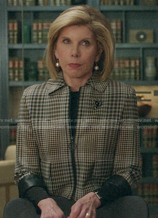 Diane's plaid jacket on The Good Fight