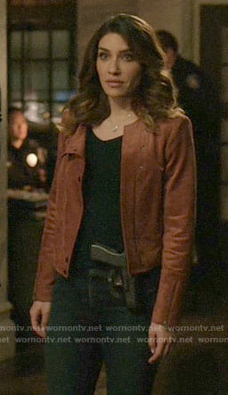 Dinah's suede jacket on Arrow