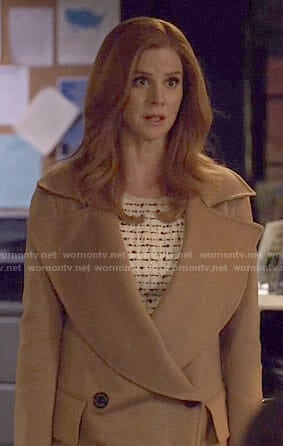 Donna's camel coat on Suits