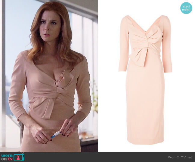 DSquared2 Bow Front Dress worn by Sarah Rafferty on Suits