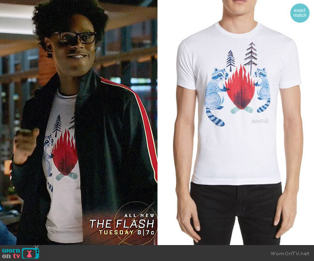 DSquared2 Raccoon Graphic T-Shirt worn by Curtis Holt (Echo Kellum) on Arrow