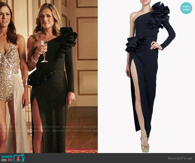 DSquared2 Colby Gown worn by Elizabeth Hurley on The Royals