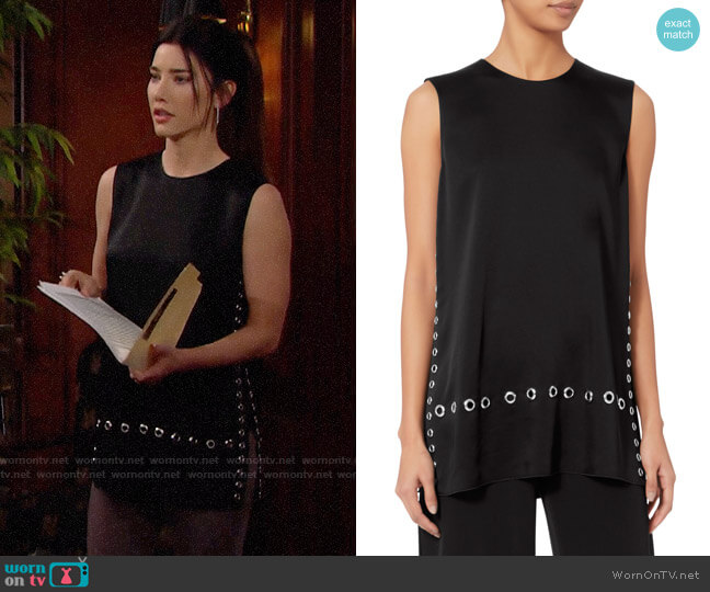 Elizabeth and James Khan Top worn by Steffy Forrester (Jacqueline MacInnes Wood) on The Bold & the Beautiful