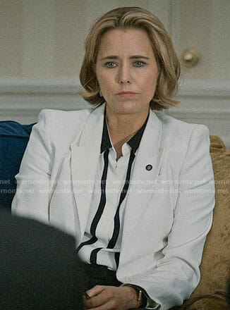 Elizabeth's white blazer on Madam Secretary