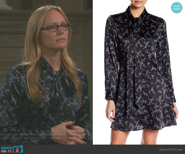 'Natalia' Dress by Equipment worn by Abigail Deveraux (Kate Mansi) on Days of our Lives