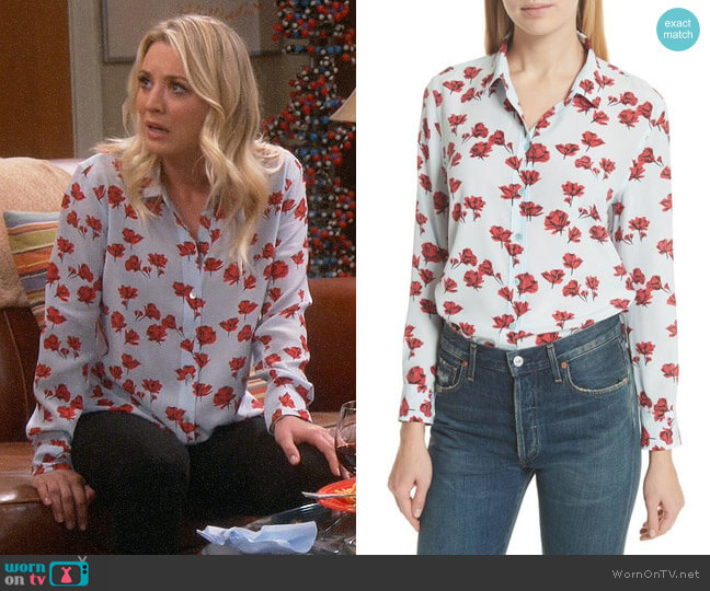 Equipment Leema Shirt worn by Kaley Cuoco on The Big Bang Theory
