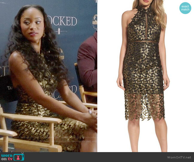 Bardot Gemma Dress worn by Tangey Turner (Pepi Sonuga) on Famous in Love