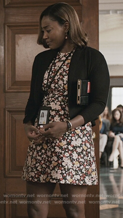 Daisy's floral print a-line dress on Madam Secretary