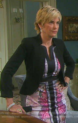Eve's floral print sheath dress on Days of our Lives