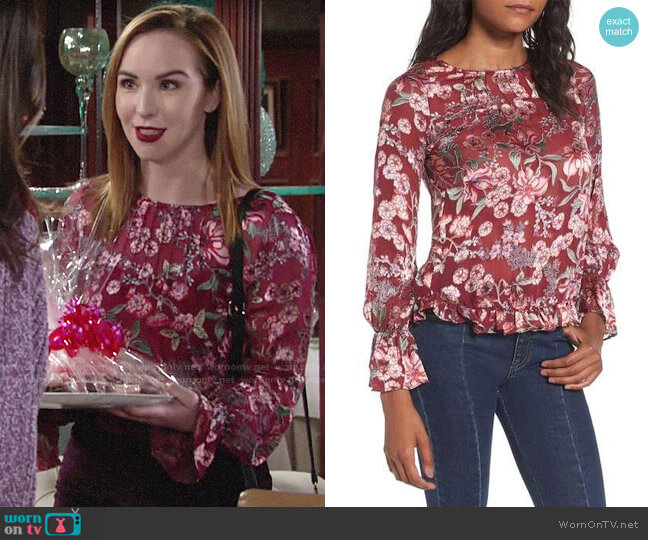 For Love & Lemons Flora Blouse worn by Mariah Copeland (Camryn Grimes) on The Young & the Restless